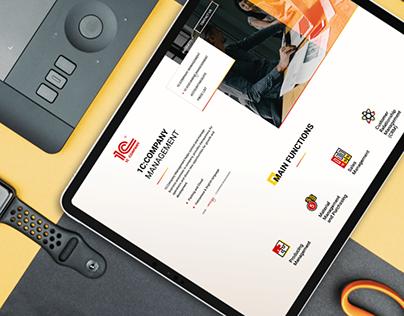 Development of the company's website 1С Vietnam