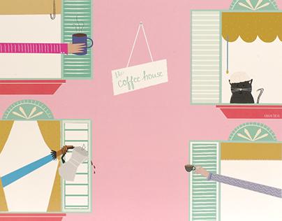 """The Coffee House"" Digital Illustration"