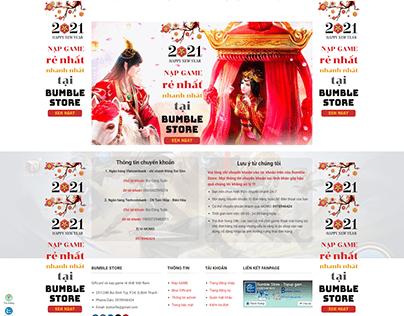 Hoàn thành website BUMBLE STORE