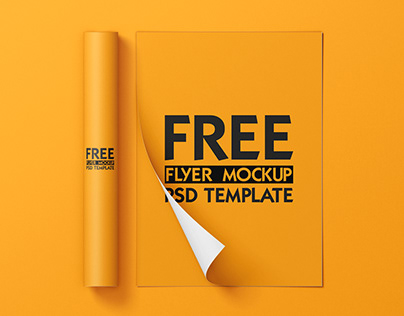 FREE FLYER MOCKUP TEMPLATE | FREE PSD | FREE MOCKUP