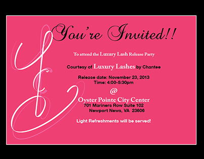 Luxury by Chantee invite