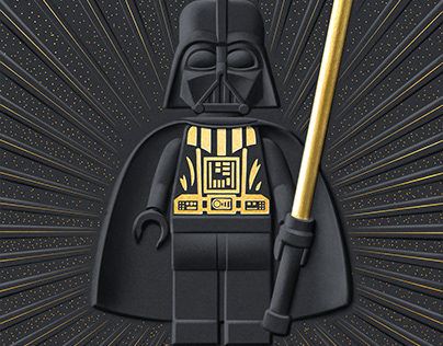LEGO DARTH VADER ILLUSTRATION