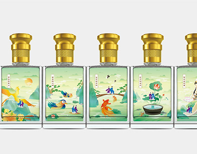 Liquor packaging - 水果白酒 - 文创礼盒 - 梁祝 - 十八相送
