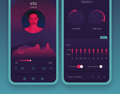 Heatswayer — music player for iOS
