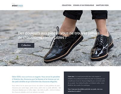Web design for ATOUT PIEDS