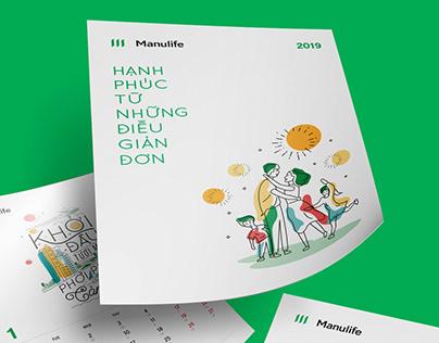 Manulife - Calendar 2019