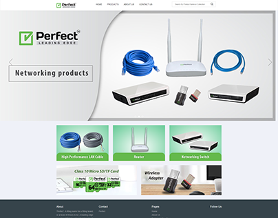 Networking products E-commerce shop