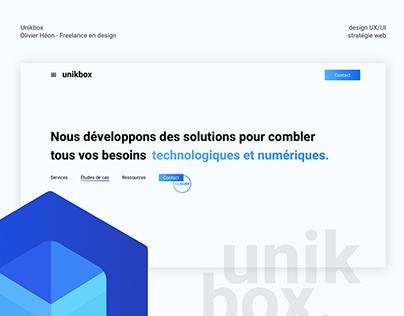 Unikbox - Stratégie et design web