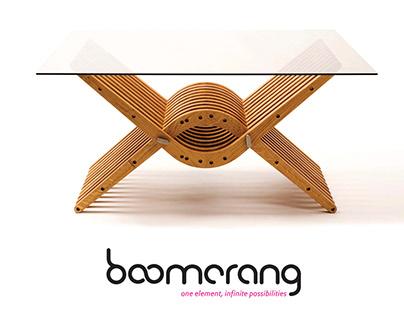 Boomerang modular furniture system - Branding