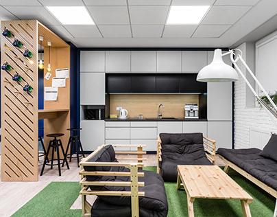 Nowoczesne biuro miłośników piłki nożnej