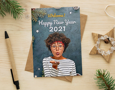 Greeting Card New Year 2021