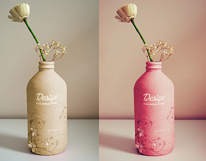 Free Photorealistic Handmade Bottle Mockup