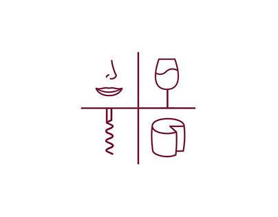 Identité visuelle - Un cantalou - bar à vins