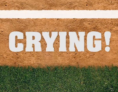 There's no crying in baseball - kinetic typography