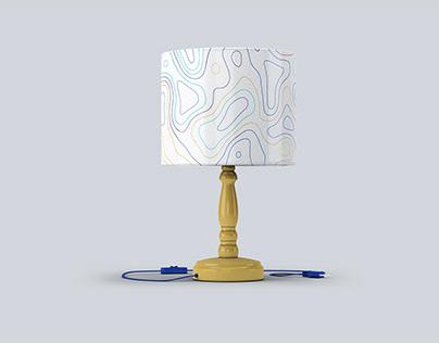 Free Night Room Table Lamp Mock-up