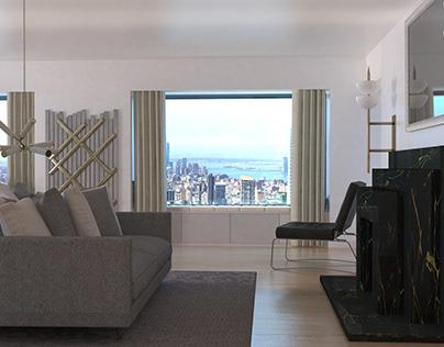 NEW YORK NEW YORK! Penthouse Apartment Manhattan CGI