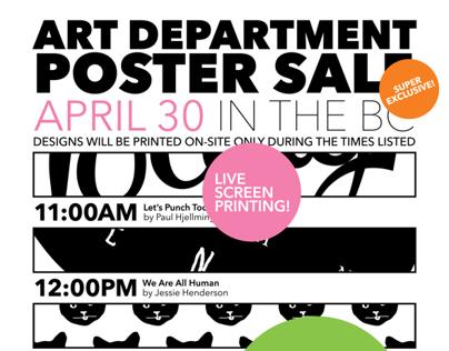 Spring Poster Sale Ads