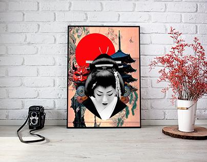 Colagem Digital - Japão