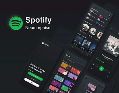 Spotify Neumorphism UI Redesign