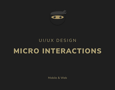 UI/UX: Micro-Animations components