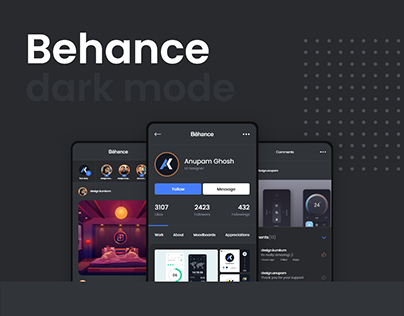 Behance Dark Mode