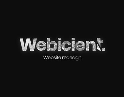 Webicient Agency - Website Redesign