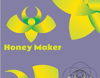 Honey maker Bee creative logo design.