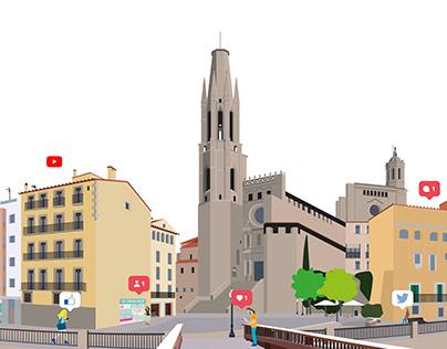 Girona Social Media - Illustration