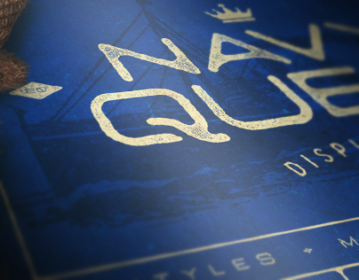 Navy Queen Display Font 2016
