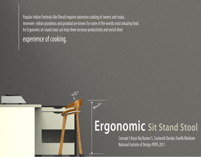 Kitchen Appliance | Ergonomic Sit Stand Stool