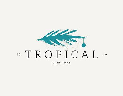 Tropical Christmas Brand Identity