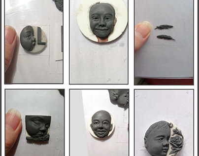 Plastiline Sculpts for Cameo Pendants