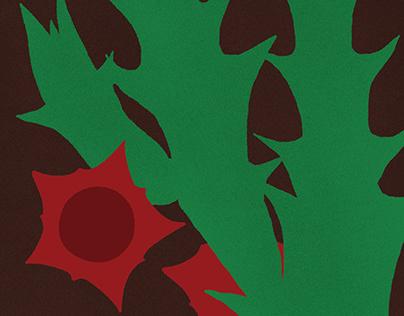 "Illustrations for a book about plants ""Fotosintezė""."
