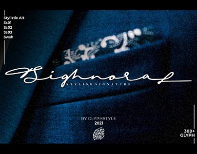 FREE   Sighnora Elegant Signature Font