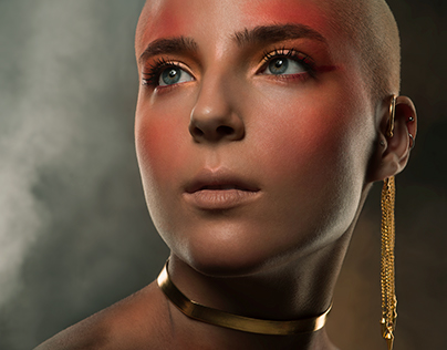 Phoenix-Inspired Beauty Shoot