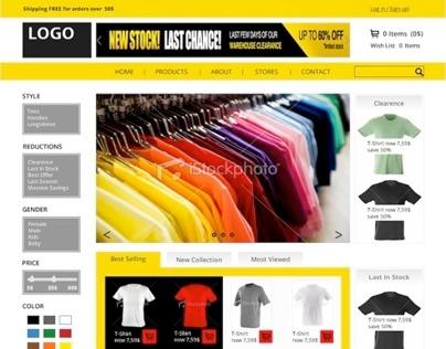 Conceptual design for webshop