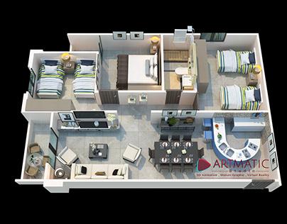 Floor Plan 3D by Artmatic Studio