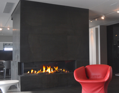 Contemporary fireplace by Ortal USA Clear RS/LS model
