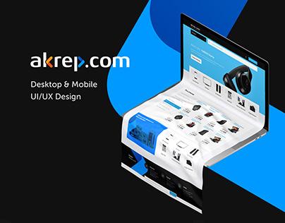 Akrep Website Design by SHERPA