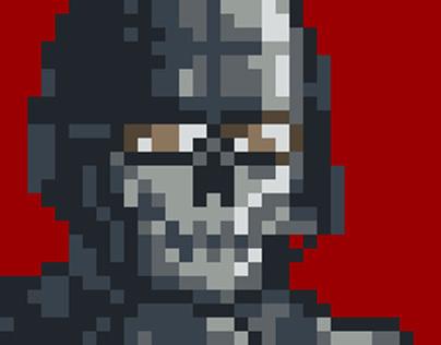 Pixel Art: Call of Duty: Modern Warfare - Ghost