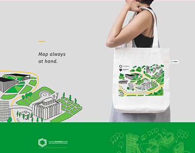 Map-bag as a city guide.