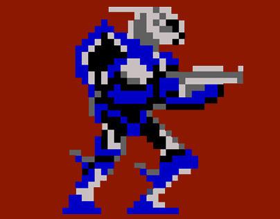 Pixel Art: Mass Effect - Garrus