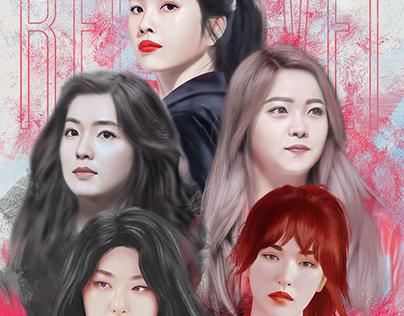 Red Velvet Digital Painting Portrait