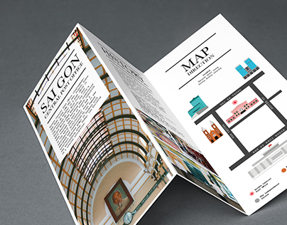 Traveling Brochure / Sai Gon Central Post Office