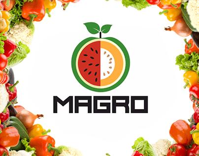 Дизайна агро логотипа Magro