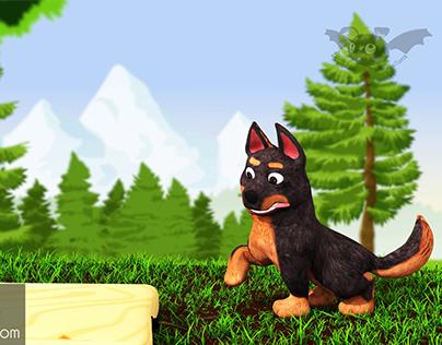 3D Dog Animation intro