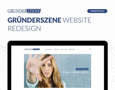 Gründerszene Unofficial Website Redesign