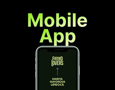 Food Lovers iOS Mobile App