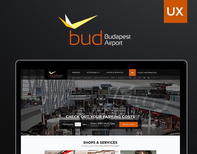 UX rethinking - Budapest Airport Website