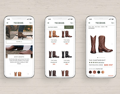 Tecovas Boots Website